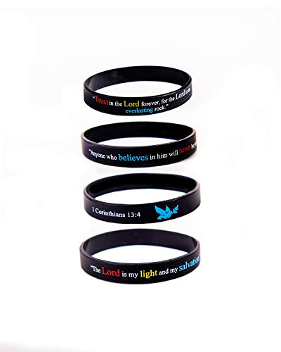 "Scripture Bracelets for Women and Men| (13-Pack) ""Power of Faith"" Wristbands by:Bel Amour Enterprise by Bel Amour Enterprise"