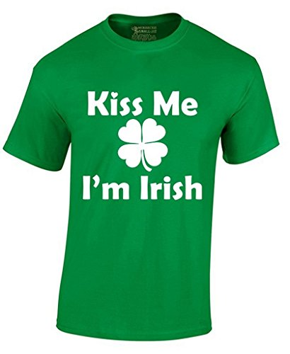 Awkward Styles Awkwardstyles Kiss Me I'm Irish T-Shirt Four Leaf Drunk ST Patrick's Day Shirt XL IRISHGRN