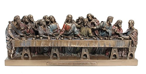 Supper Disciples Last 12 (The Last Supper Jesus Twelve Apostles Statue Figurine Cold Cast Bronze)