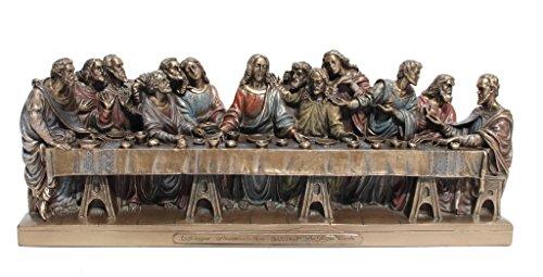 12 Disciples Supper Last (The Last Supper Jesus Twelve Apostles Statue Figurine Cold Cast Bronze)