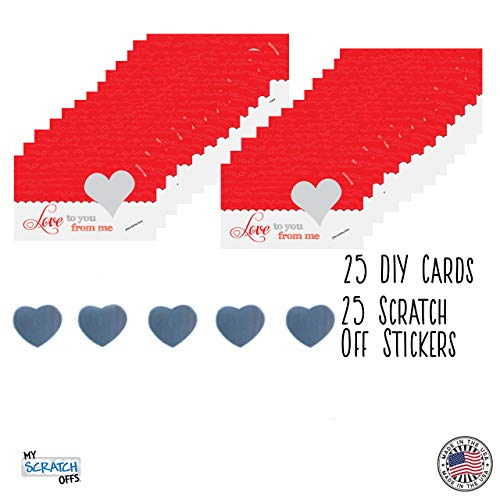 Date Night Love Note Scratch Off Cards Customizable Write Your Own Message Set of 25