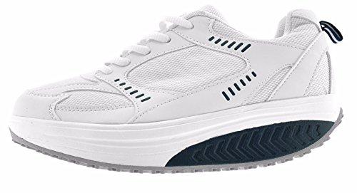 Mujer dimagranti Glúteos deportivas Zapatos rassodanti Fitness azul Benessere basculantes rassoda blanco RZxnp6