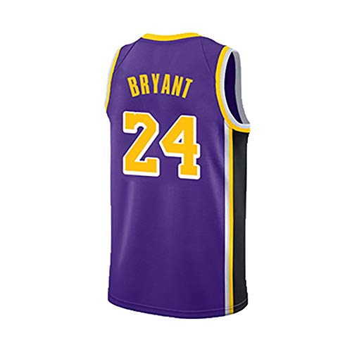 (for Lakers 24 Sportswear No. 8 Training Suit, Sports Vest top + Shorts Quick Drying suit-4-M)