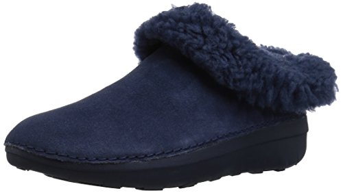 FITFLOP Women's Loaff SNUG Slippers, Midnight Navy, 11 M US