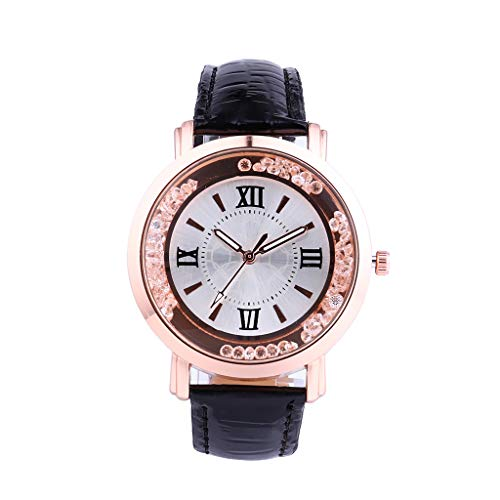 LUXISDE Watch Women Quartz Watch Woman's High-end Blue Glass Life Waterproof Distinguished Black
