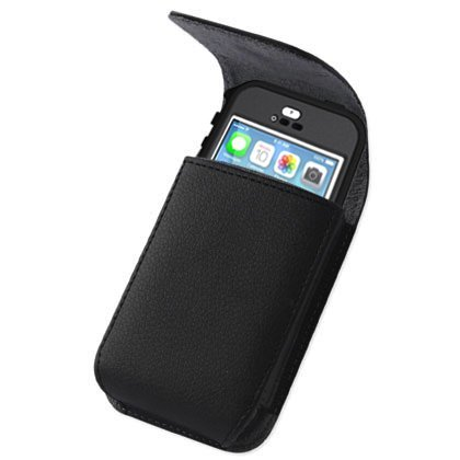 new styles 35c6e 091f8 Kuteck Black Belt Clip Vertical Leather Belt Pouch Holster Cover for iPhone  6 Plus/7 Plus/8 Plus/XS Max Plus(Fits with Otterbox / Lifeproof Case On)