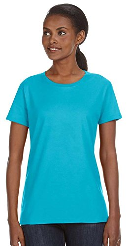 Anvil Short Sleeve T-shirt - Anvil Ladies' Midweight Short Sleeve T-Shirt, XL, Pool Blue