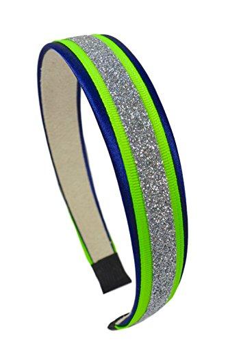 Football Team Fan Glitter and Grosgrain Arch Headband by Funny Girl Designs (SEATTLE)