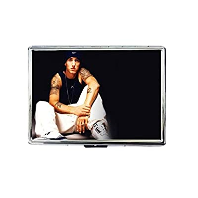 Eminem Custom Classic Design Metallic Silver Color Cigarette Case-Namcha