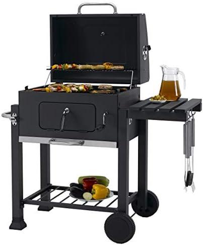 Tepro Toronto Click Barbecue au charbon de bois Anthracite/acier inoxydable