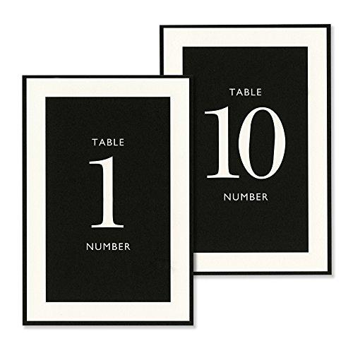 Vera Wang 1-10 Black & White Table Cards by Vera Wang