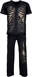 Spiral - Mens - BONE RIPS - 4pc Mens Gothic Pyjama Set - XL