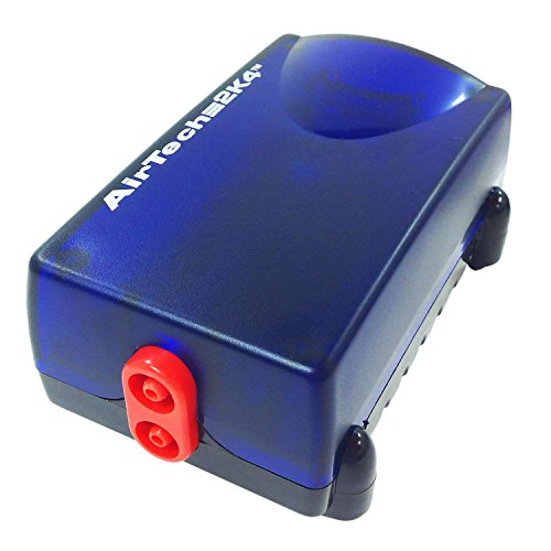 Penn Plax Aquarium Air Pump Ultra Quiet Compact Dual Air Outlets Up to 65 Gallon Tank