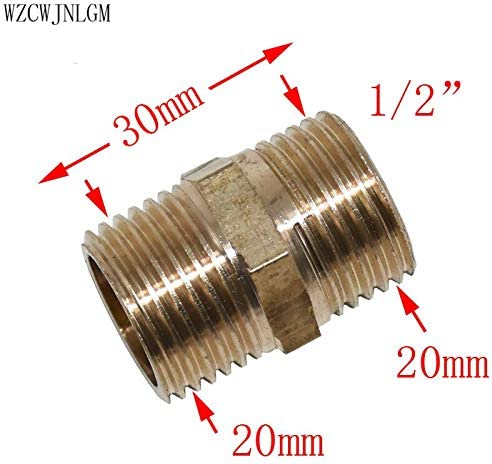 1//2 3//4 1 Brass Male BSP Threaded Fitting Connector Brass hex Fitting 1pcs Color: 1 Haloogoods Garden