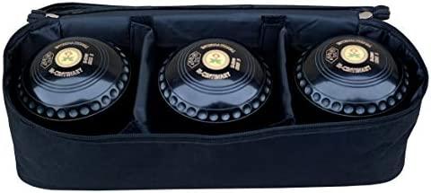 Acclaim Milan Heavyweight Nylon Three Bowl Level Lawn Flat Green Short Mat Bowls Bag With Removable Dividers