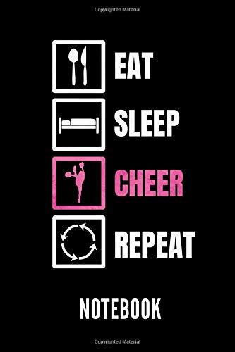Eat Sleep Cheer Repeat notebook: Ein schönes Notizbuch mit 110 linierten Seiten für jemanden, der Cheerleading liebt - Ideal für Notizen zum Thema Cheerleading por Cheerleading Publishing
