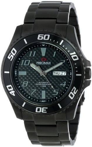Precimax Men's PX13226 Aqua Classic Automatic Black Dial Black Stainless-Steel Band Watch
