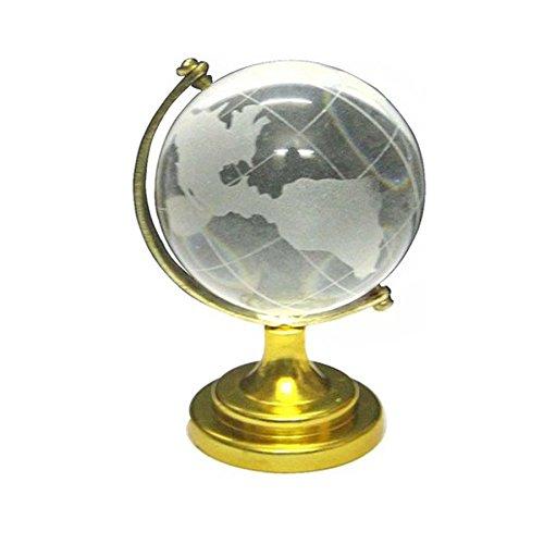 (Divya Mantra Feng Shui Crystal Globe Showpiece Transparent)