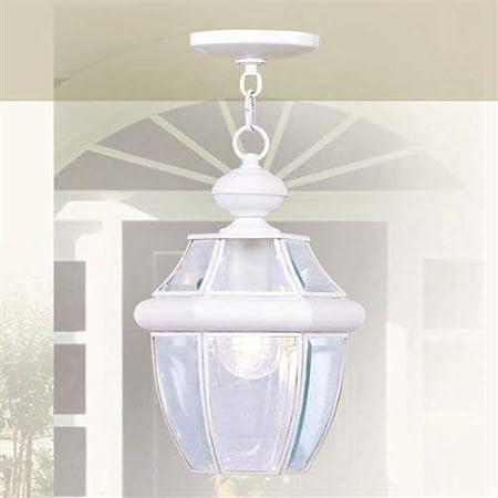 Livex Lighting 2152-07 Monterey 1-Light Outdoor Hanging Lantern Bronze