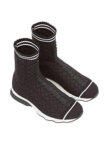 Noir Viscose Femme Fendi Baskets Blanc 8T6515OD8F0KJR pRSggqv