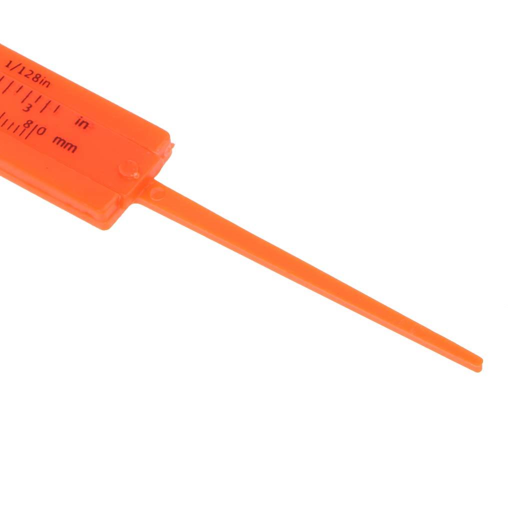 New 1Pc Mini Plastic Ruler Sliding 80mm Vernier Caliper Gauge Measure Tools