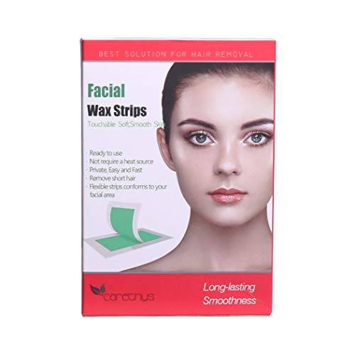 Facial Wax Strips, Hair Removal Waxing Strips for Face with 40 Count Wax Strips and 5 Post Wipes