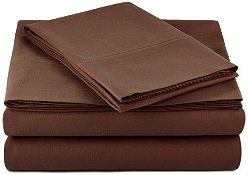 amazonbasics microfiber sheet set twin extra long chocolate for. Black Bedroom Furniture Sets. Home Design Ideas
