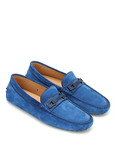 Macro Blu Uomo Clamp Country Tod's Suede Loafers vdqAPvxw