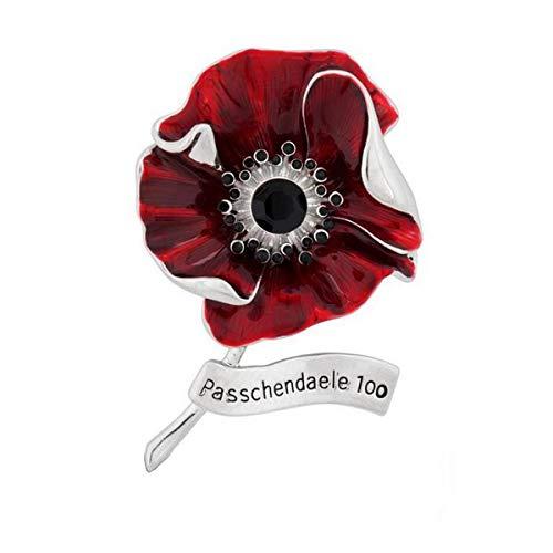 BESTOYARD ポピーフラワーブローチラペルピン記念エナメル合金レッドバッジブローチメモリアルデー退役軍人デーギフトピン