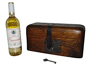 Rustic Wine Box - Handmade with Solid Wood H