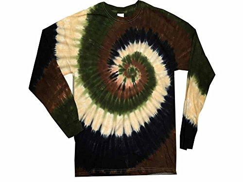 Swirl Tie Dye Shirt (Colortone Tie Dye L/S XL Camo Swirl)
