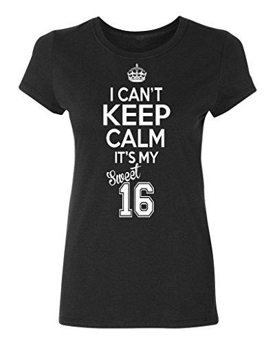 P&B Sweet Sixteen It's My Birthday! Women's T-Shirt, 2XL, Black -