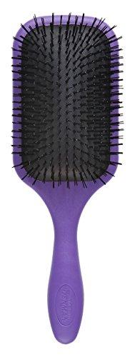 Denman D90L Hair Detangler Brush for Men & Women - 9-Row Hair Styling Professional Detangle Brush Tamer for Thick, Curly & Long Hair - Large - Purple