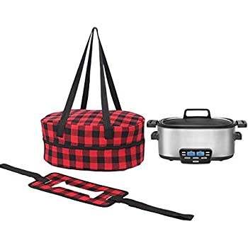 Slow Cooker Carrier Bag, Crock Pot Insulated Travel Case With A Secure Straps, Large Size 18.5