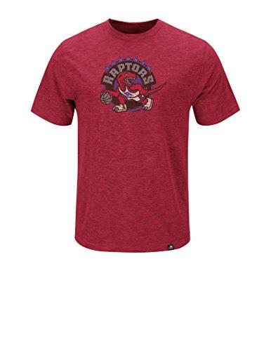 08 Apparel Tee - NBA Toronto Raptors Men's Raptors Hours & Hours Short Sleeve Basic Crew Neck Tee 95-08, X-Large, Hyper Athletic Red Pepper Slub