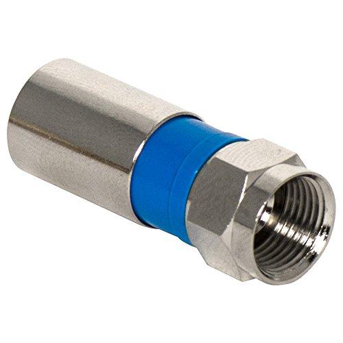 Compression Connector Rg6/u Quad Shield - Legrand - On-Q AC300810 Compression F Plug Rg6/U Quad Shield Coax Cable, 10 Pack