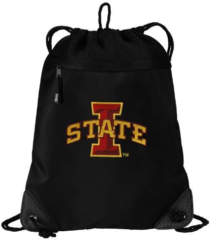 (Broad Bay ISU Cyclones Drawstring Bag Iowa State Cinch Pack Backpack Unique MESH & Microfiber)