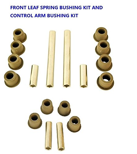 Club Car Front Lower Spring & Front Upper A-Arms Bushing Kits for Precedent Cart ()