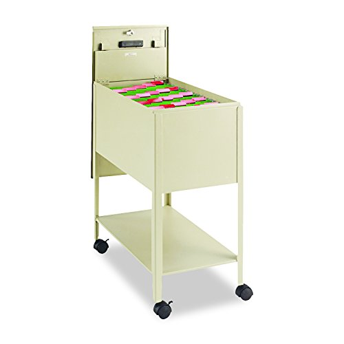 Safco Products 5362PT Extra Deep Mobile Tub File with Lock, Letter Size, ()