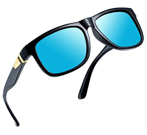 (Joopin Unisex Polarized Sunglasses Classic Men Retro UV400 Brand Designer Sun glasses (Blue Retro))