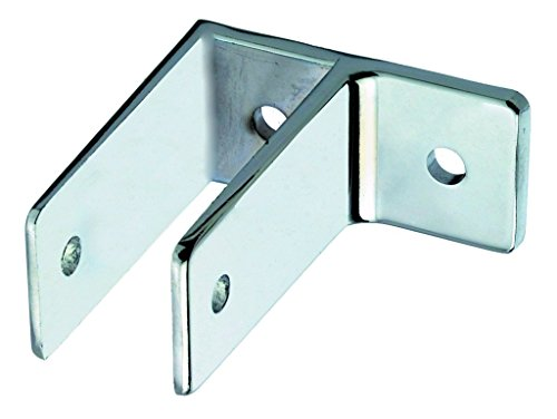 Harris Hardware TP1846 One Ear Die Case Zamac Chrome Plated Wall Bracket with 1-1/4