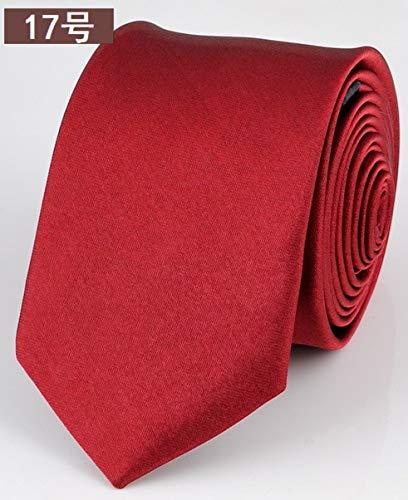 FAHFO Corbatas Corbata Negra Delgada para Hombres Accesorios ...