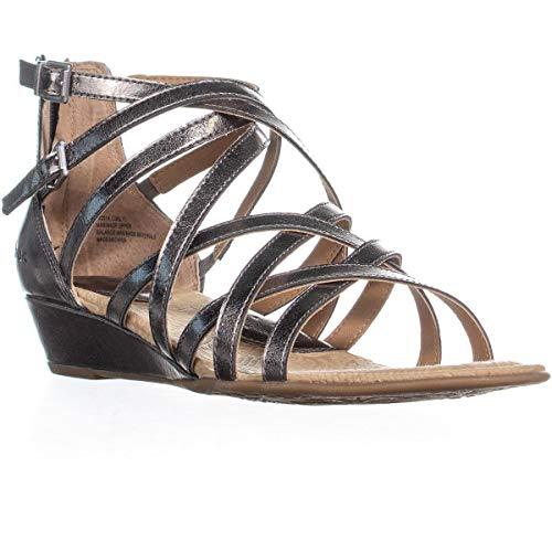 B.O.C. Women's, Mimi Wedge Sandals Pewter 8 M