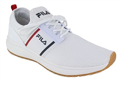 Fila Mens Control Low Textile Sneakers White clearance fast delivery RNaE4gz