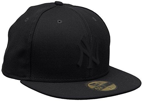 New Era Erwachsene Baseball Cap Mütze MLB Basic NY Yankees 59 Fifty Fitted, Black, 7 3/8, 10000103