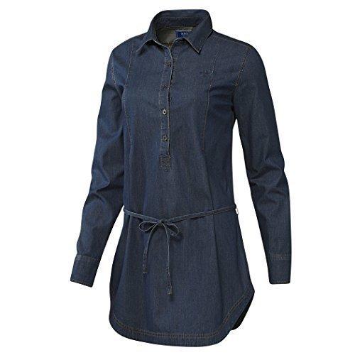 Adidas Mujeres Niñas Vestido De Jeans Denim Camiseta Vestido - algodón, Darkrinse, 100%