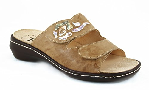 THINK! Damen Pantolette CAMILLA 86423-52 cappucino/kombi