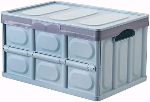 Caja Plegable de plástico Multifuncional Coche Cubierto Grande Caja de Almacenamiento Plegable Caja Plegable Caja Coche (Color : Azul, Tamaño : 43×30×23cm): Amazon.es: Hogar