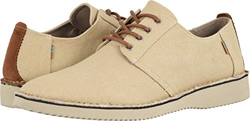 TOMS Men's Preston Natural Textured Twill/Stitch Out 7.5 D US