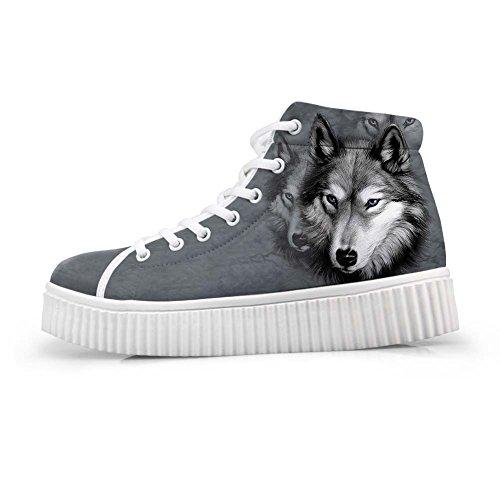 Knuffels Idee Schattige Dieren Afdrukken Platform Schoenen Mode Sneakers Wolf